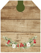Christmas Tag #3 Print & Cut File