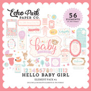 Hello Baby Girl Element Pack #2