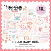 Hello Baby Girl Element Pack #3