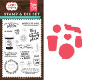Just Add Glitter Die & Stamp Set