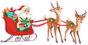 Santa and his Reindeer Print & Cut File