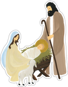 Mary and Joseph Print & Cut File