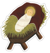 Jesus In A Manger Print & Cut File