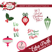 Merry & Bright SVG Cut Files #4
