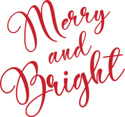 Merry & Bright #2 SVG Cut File