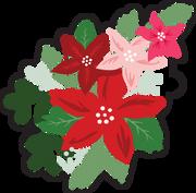 Merry & Bright Flower Bundle #2 Print & Cut File