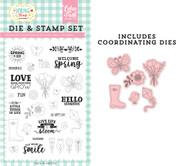 Spring is Here Die & Stamp Set