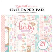 Hello Baby Girl 12x12 Paper Pad
