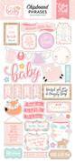 Hello Baby Girl Chipboard Phrases