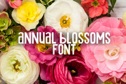 Annual Blossom Font