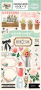 Flower Market Chipboard Accents