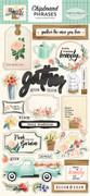 Flower Market Chipboard Phrases