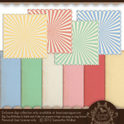 Big Top Birthday solids and die cut papers