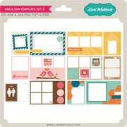 4x6 and 3x4 Template Set 2