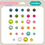 Basic Life Embellishment Set Buttons