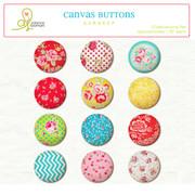 Fabric buttons Gumdrop