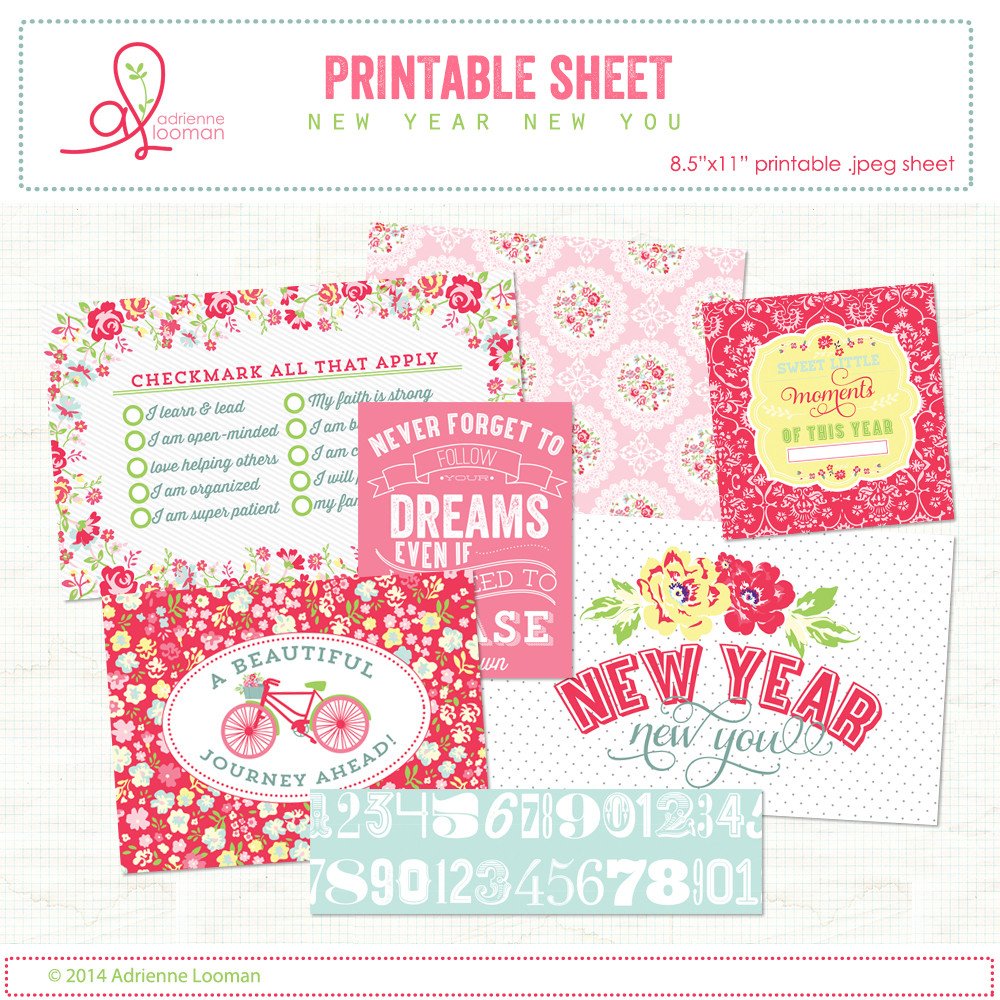 printable sheet new year cards no2