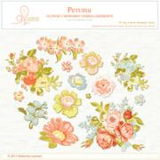 Chipboard Petunia flowers