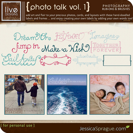Photo Talk Vol. 1 - Photography Rub-Ons & Brushes