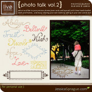 liv.edesigns Photo Talk Vol. 2 - Photography Rub-Ons & Brushes by Liv Esteban