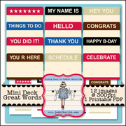 Mini Deck - Great Words
