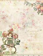 Printable Vintage Letterhead Stationary - Vintage Fairy and Flowers