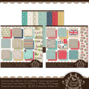 In this kit you will receive the entire Union Jack Collection, that is 3 digital kits!