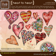 liv.edesigns Heart to Heart Graphic & Painted Rub-Ons