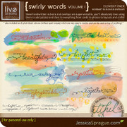 liv.edesigns Swirly Wordart Rub-Ons & Overlays