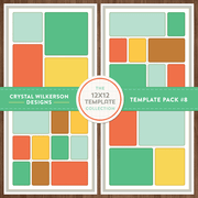 Crystal's 12x12 Template Collection - Template Pack #8
