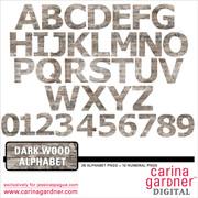 Dark Wood Alphabet and Numbers