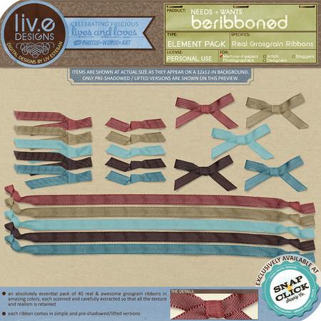 liv.edesigns Needs+Wants: Beribboned (Real Grosgrain Ribbons)