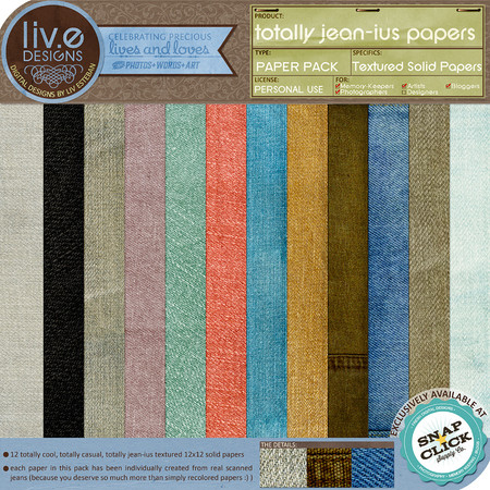 liv.edesigns Totally Jean-ius Papers: classy, sexy, timeless!