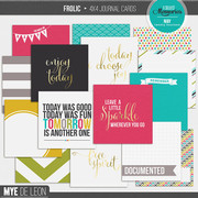 Frolic | 4x4 Journal Cards