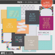 Piazza | 4x4 Journal cards