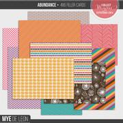 Abundance | 4x6 Filler Cards