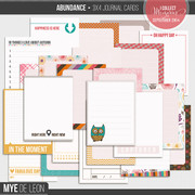 Abundance | 3x4 Journal Cards