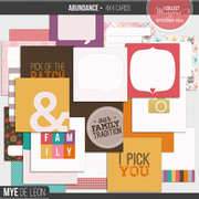 Abundance | 4x4 Journal Cards