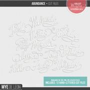 Abundance | Word Cut Files