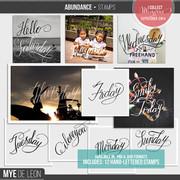 Abundance | Stamp Overlays