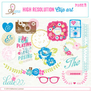Sweet Routine Clip Art Elements pack no.2