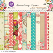 Strawberry Kisses digital paper pack