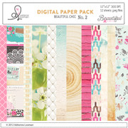 Beautiful Chic digital paper pack no. 2