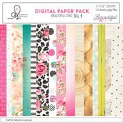 Beautiful Chic digital paper pack no.1