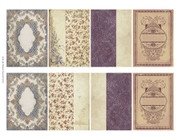 Printable Mini Antique Book Covers in ATC size