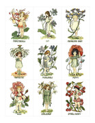 Printable Fairies in the Flowers 3 Collage Sheets