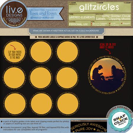 liv.edesigns Glitzircles - Labels & Clipping Masks
