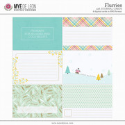 Flurries | 4x6 Journal Cards