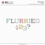 Flurries | Glittered Alpha
