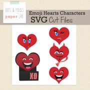 Emoji Hearts Treat Box Cut Files-Characters